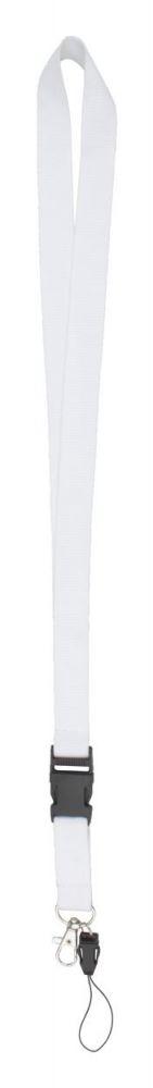 Duble lanyard - bílý