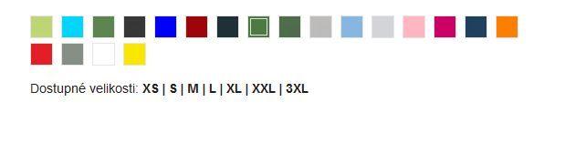 Pánské polo tričko Helios, vzorník barev