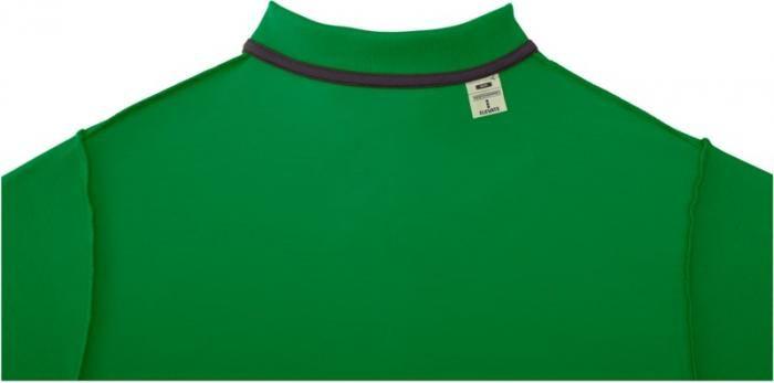 Pánské reklamní polo tričko Helios, zelené, detail