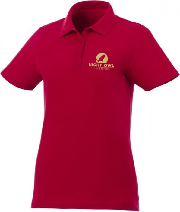 Dámské reklamní polo tričko s potiskem Liberty, červené