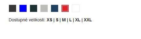 Dámské reklamní polo tričko Liberty, vzorník barev a velikostí