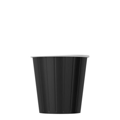 Papírové kelímky černé 100ml (4 oz) 1000ks
