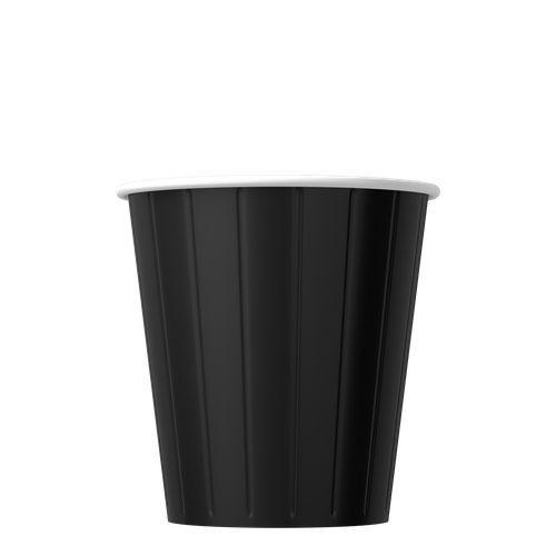 Papírové kelímky na kávu černé 200ml (8oz) 1000ks