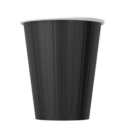 Papírové kelímky černé 350ml (12oz) 1000ks
