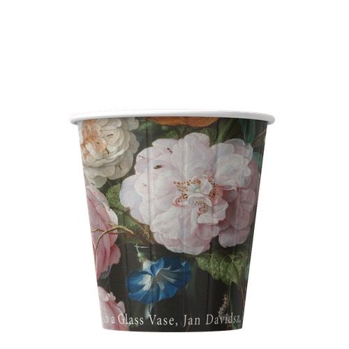 Papírové kelímky na kávu Květiny 200ml (8oz) 1000ks