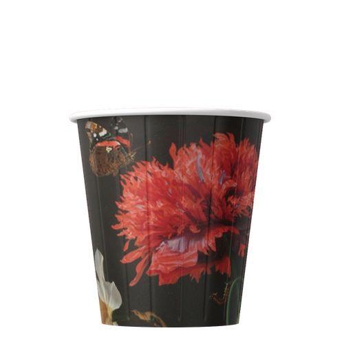 Papírové kelímky na kávu Květina 200ml (8oz) 1000ks