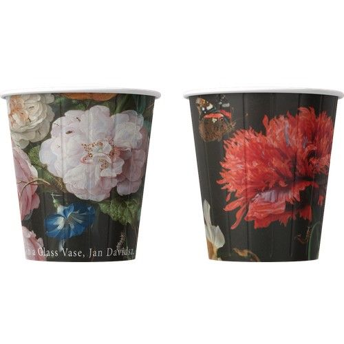 Kelímky na kávu Květiny mix 200ml (8oz) 1000ks