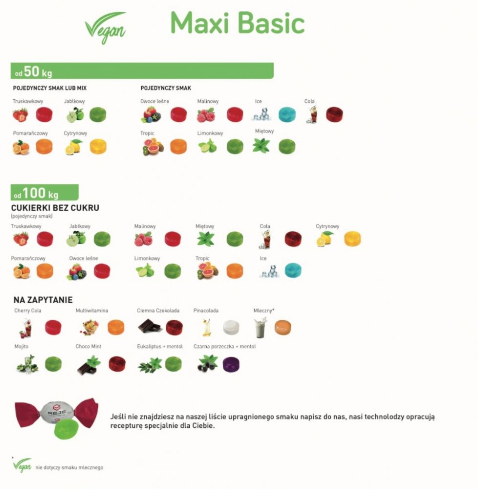 Tvrdé bonbony Maxi Basic s reklamním potiskem