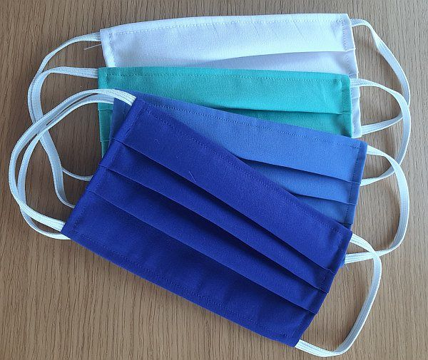 Hygienická rouška Noris na gumičky bílá/modrá 1000ks