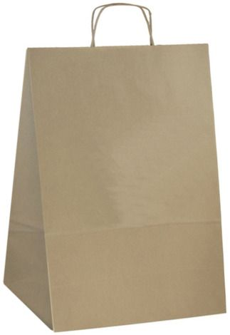 Papírová taška s potiskem hnědá 25x11x32cm - 500ks