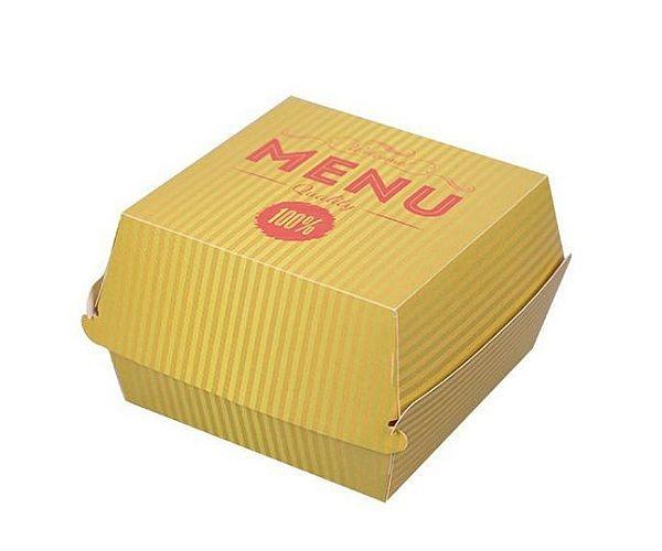 Krabička/ box na burger bílý karton M - 10000ks