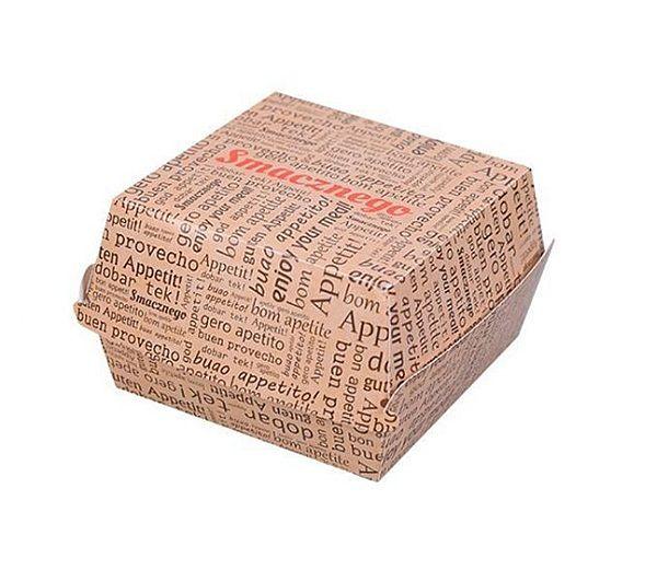 Krabička/ box na burger bílý karton XXL - 10000ks