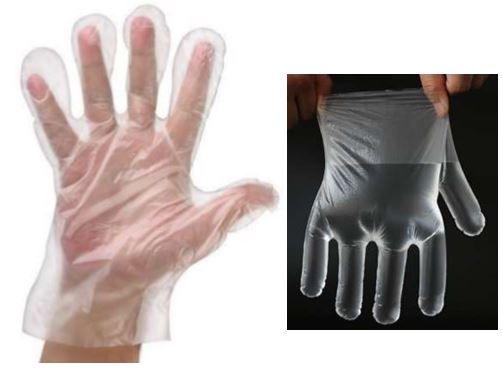 Jednorázové rukavice PE 100 balení (10000ks)