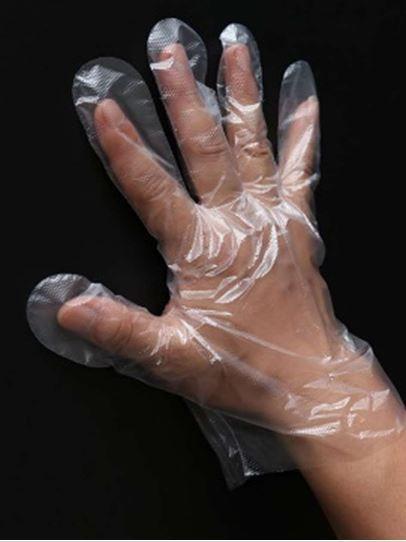 Jednorázové rukavice PE 500 balení (50000ks)