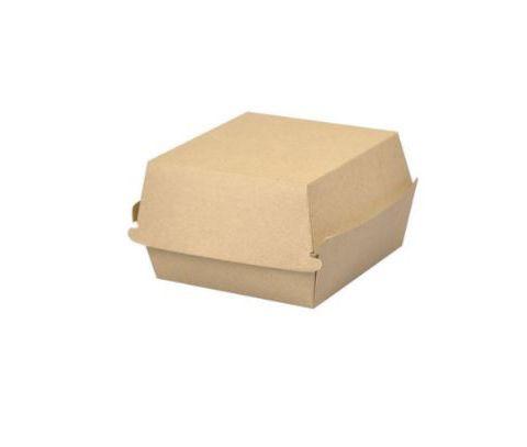 Krabička/ box na burger hnědý karton XXL - 10000ks