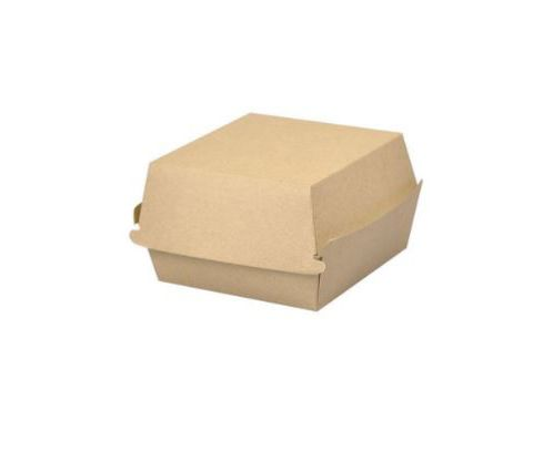 Krabička/ box na burger hnědý karton