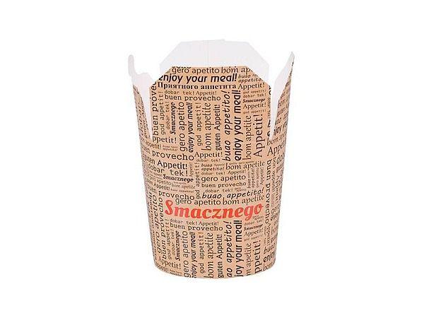 Krabička na kebab nebo nudle bílý karton 500ml - 10000ks