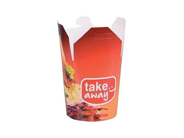 Krabička na kebab nebo nudle bílý karton 750ml - 10000ks