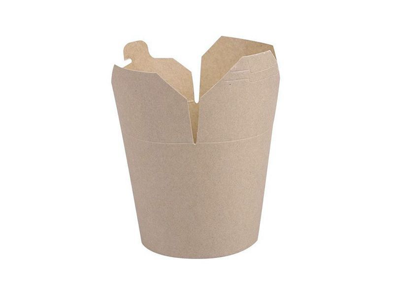 Krabička na kebab nebo nudle hnědý karton 500ml - 10000ks