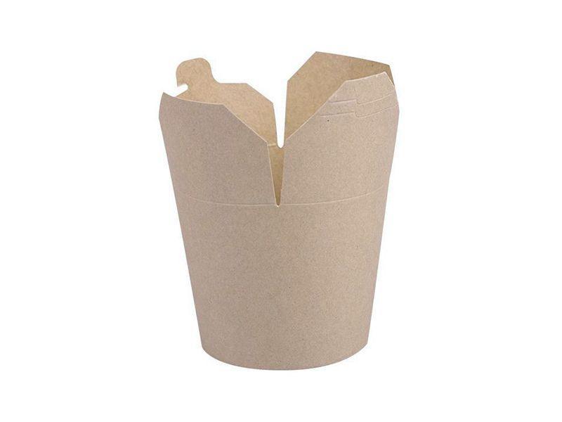 Krabička na kebab nebo nudle hnědý karton 750ml - 10000ks