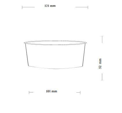 Papírový kelímek na zmrzlinu 350ml (12oz) - 2000ks