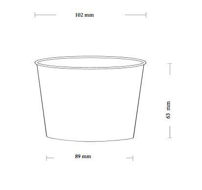Papírový kelímek na zmrzlinu 360ml (12oz) - 2000ks