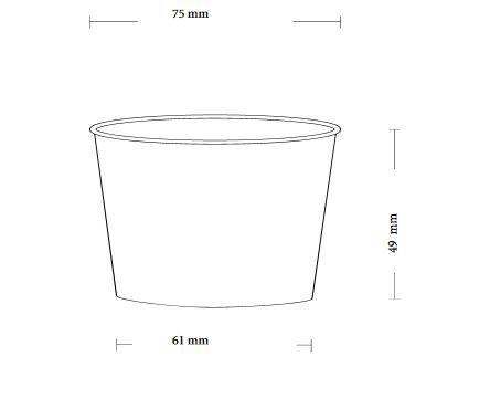 Papírový kelímek na zmrzlinu 130ml (4oz) - 5000ks