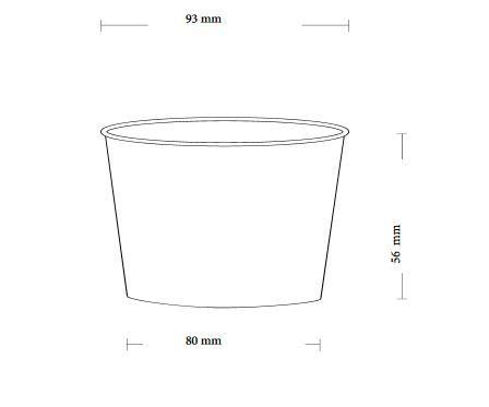 Papírový kelímek na zmrzlinu 245ml (8oz) - 5000ks