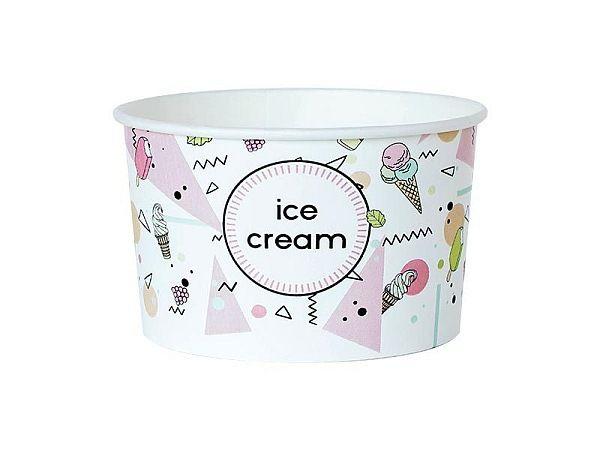 Papírový kelímek na zmrzlinu 350ml (12oz)