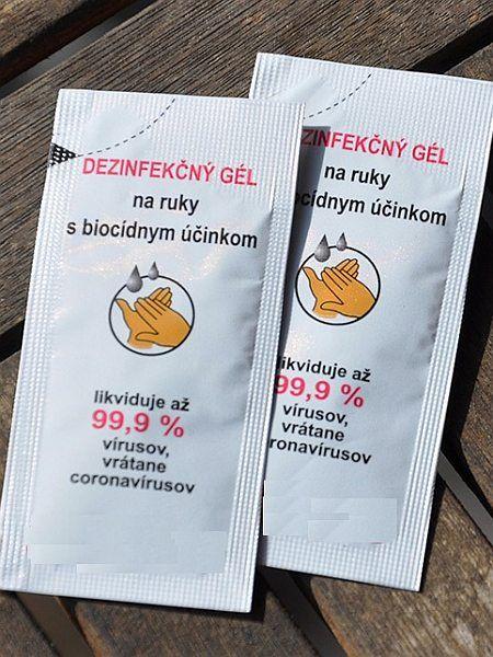 Dezinfekční gel 1,5ml - potisk 2 barvy