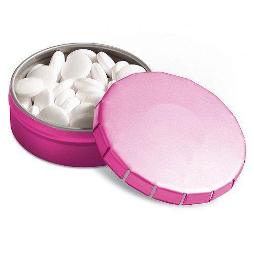 Reklamní bonbony v clic clac růžové krabičce pro potisk