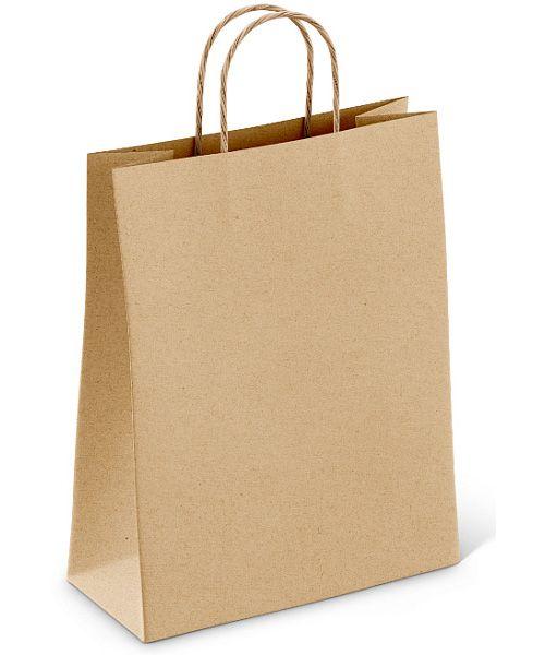 Papírová taška hnědá/ bílá 32x12x40cm - 500ks