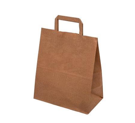Papírová taška hnědá/ bílá 34x18x35cm - 300ks