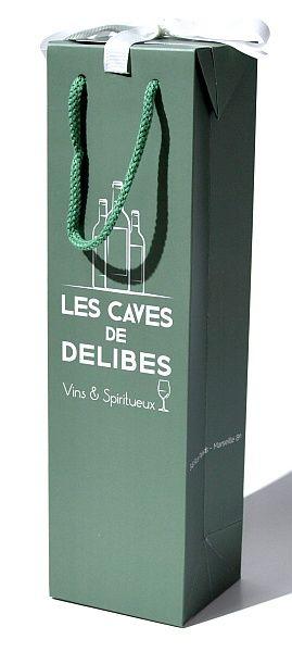 Taška na víno 10x9x36cm - 1000ks
