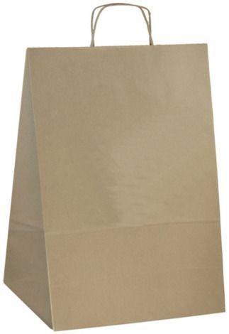 Papírová taška s potiskem hnědá 25x11x32cm - 1000ks