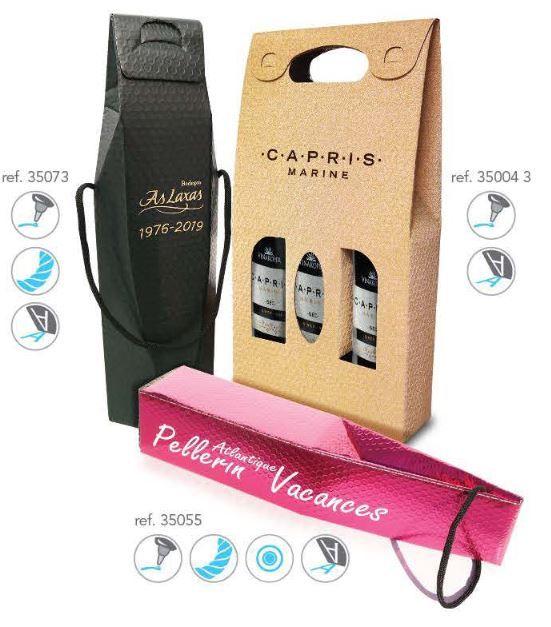 Recyklované obaly na víno 3 láhve