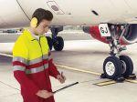 Airport fleecová mikina pracovní, žluto-červená, s reflexními pruhy