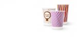 BIO papírové kelímky dvoustěnné 350ml (12oz) 1000ks