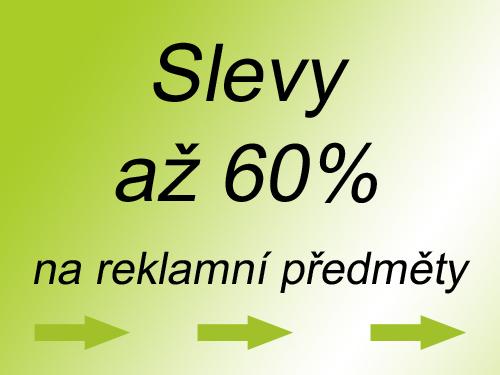 Slevy až 60% na reklamní předměty
